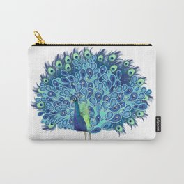 Peacock - Green and BLUE Carry-All Pouch