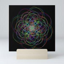looping lines Mini Art Print