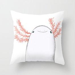 Axolotl Close-Up Throw Pillow