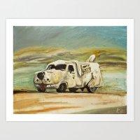 Shaggin' Wagon Art Print