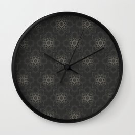 Contemporary Floral Pattern Wall Clock