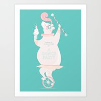 There is always time for a Dance Party (aqua) Art Print