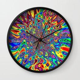 Digital Paint Pour Wall Clock