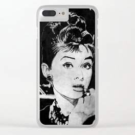 Miss Golightly - black Clear iPhone Case