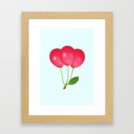 CHERRY BALLOONS Framed Art Print
