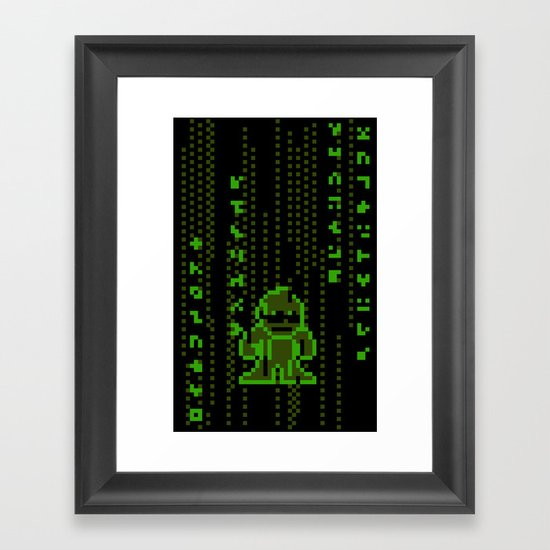 The Pixel Matrix Framed Art Print