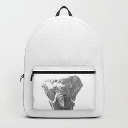 Black and white elephant illustration Backpack