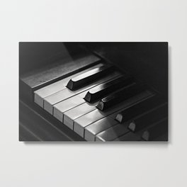 vintage piano keys Metal Print