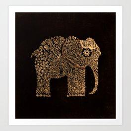 Ella the Elephant Art Print