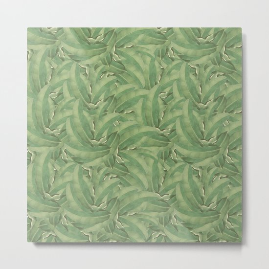 Banana Leaf Pattern Metal Print