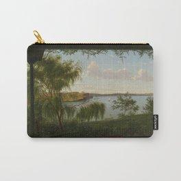 From the verandah of Purrumbete by Eu von Guerard Date 1858  Romanticism  Landscape Carry-All Pouch