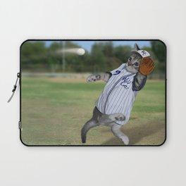 Baseball Catcher Kitten Laptop Sleeve