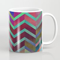 holographic Mugs featuring Color Transition Chevron by Klara Acel