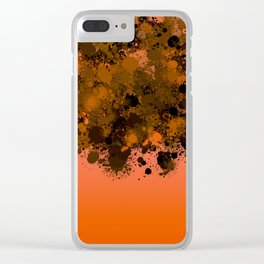 paint splatter on gradient pattern or Clear iPhone Case