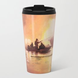 Marina Boat Fire - Fire Series Travel Mug
