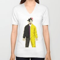 heisenberg V-neck T-shirts featuring Heisenberg by Danny Haas
