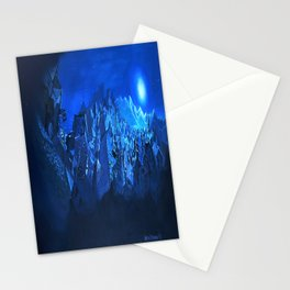 blue village Stationery Cards
