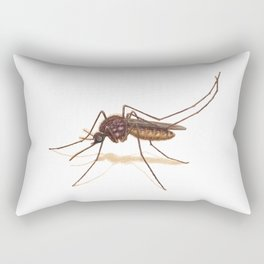 Mosquito by Lars Furtwaengler | Colored Pencil / Pastel Pencil | 2014 Rectangular Pillow