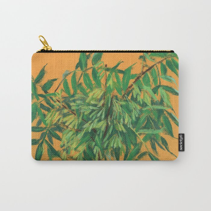 Ash Tree, green and yellow Carry-All Pouch