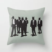 reservoir dogs Throw Pillows featuring Reservoir Dogs by Clayton Dixon