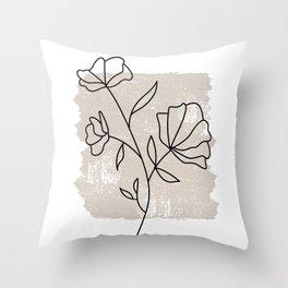 Botanical Line No 2 Throw Pillow