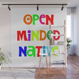 Open minded Native Wall Mural