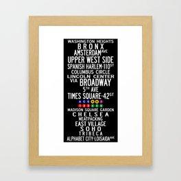 NYC Salsa Framed Art Print