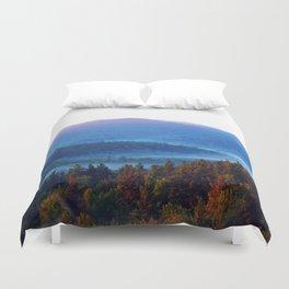 blue mist (morning mountains) Duvet Cover
