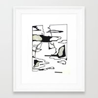 monet Framed Art Prints featuring Monet by Abstract Ink