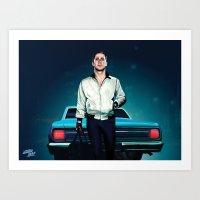 ryan gosling Art Prints featuring 'Drive' Ryan Gosling by Studio Caro △