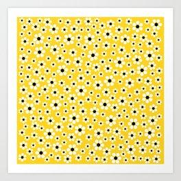 Dizzy Daisies - Yellow - more colors Art Print