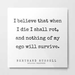 84   | Bertrand Russell Quotes | 200204 Metal Print