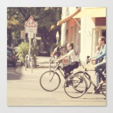 Riding Canvas Print