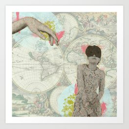 Feminine Collage I Art Print
