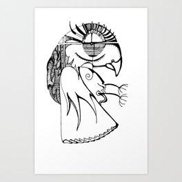 A kind of parrot Art Print