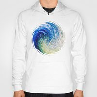 van gogh Hoodies featuring Wave to Van Gogh by Fringeman