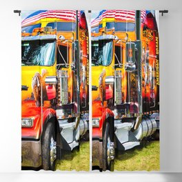 Front view American Style Truck Blackout Curtain