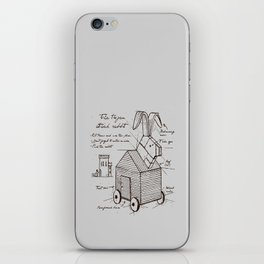 trojan rabbit iPhone Skin