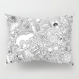Random Doodles Pillow Sham