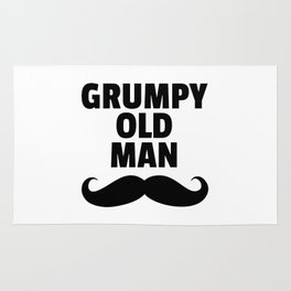 Grumpy Old Man Funny Quote Rug