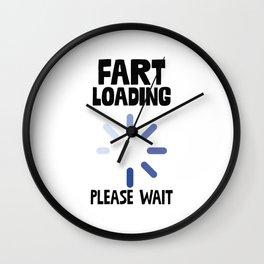 Fart Loading Wall Clock