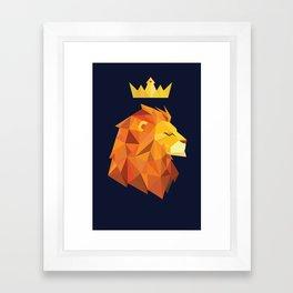 Geometric Lion Framed Art Print