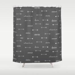 Adventure Arrows Grey Shower Curtain