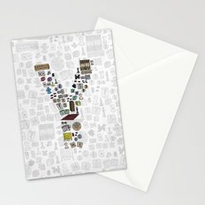 letter Y - games Stationery Cards
