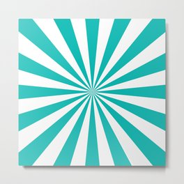 Starburst (Tiffany Blue/White) Metal Print