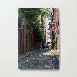 Acorn Street Boston Metal Print