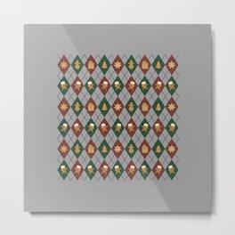 Christmas Sweater Pattern - Sugar Cookies & spice Metal Print