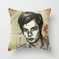 calvin Throw Pillows featuring Calvin Love by CHAR ODEN