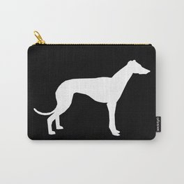 Greyhound square black and white minimal dog silhouette dog breed pattern Carry-All Pouch