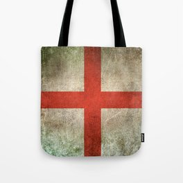 Old and Worn Distressed Vintage Flag of England Tote Bag